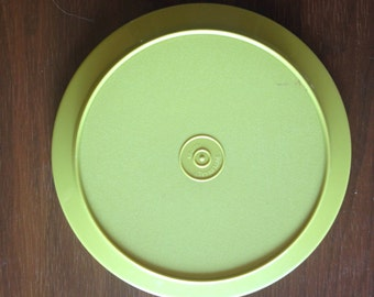 Green Tupperware Bowl Lid Servilier Lid Tupperware Vintage Cover Replacement Kitchen Storage 1207-22