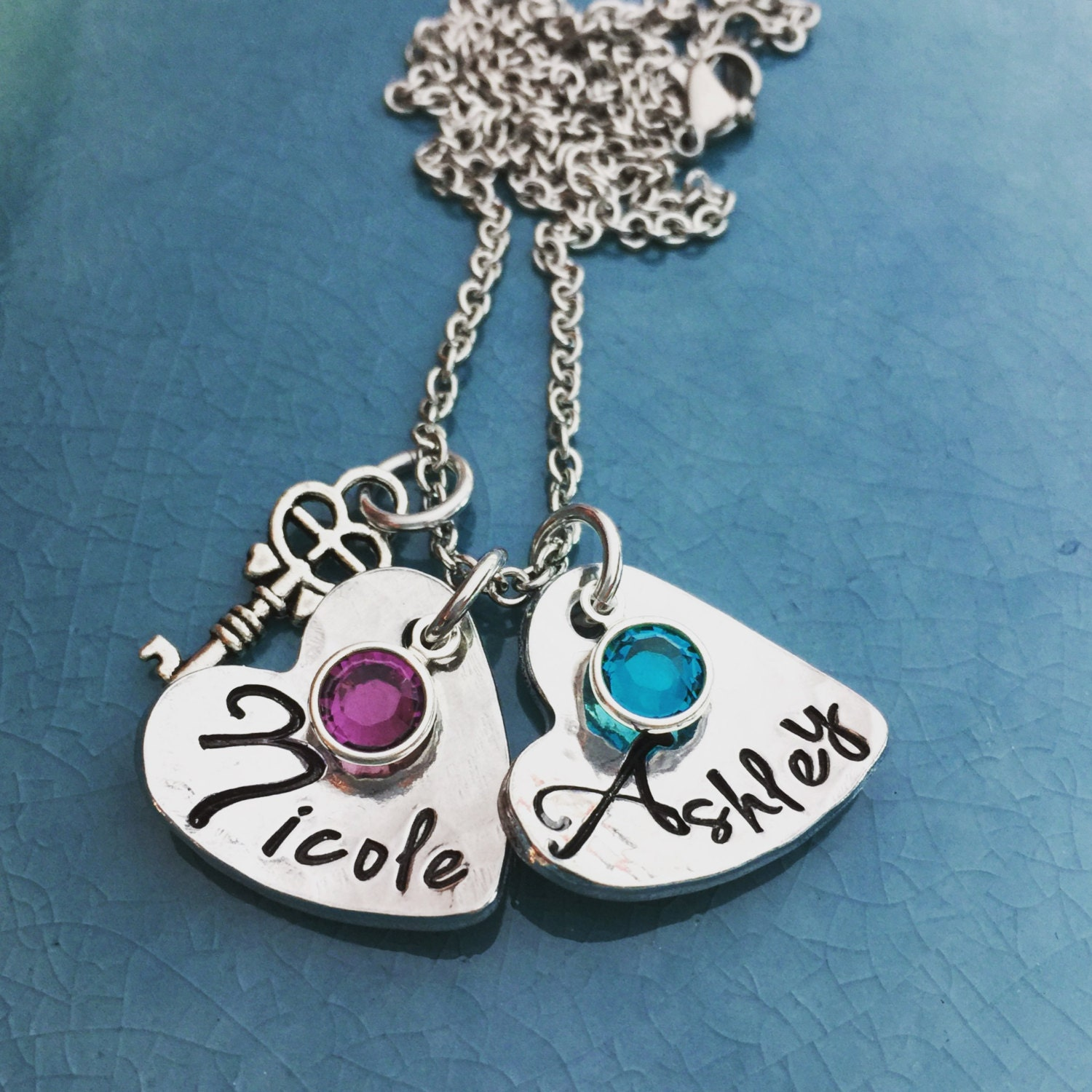 Hand stamped personalized jewelry gifts for her birthstone for Engravable gifts for her