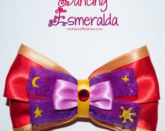 Dancing Esmeralda Hair Bow