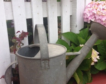 antique  French Zinc large Watering Can French Garden