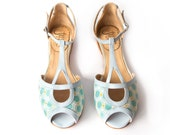 Pia Cielo - Sandal in light blue - Handmade in Argentina - Free shipping