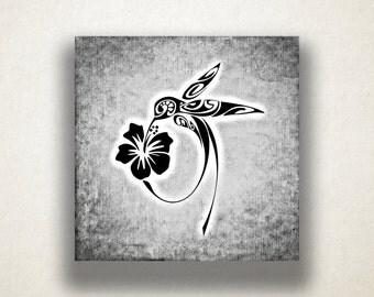 Artistic Hummingbird Canvas Art Print, Abstract Wall Art, Bird Canvas Print, Artistic Wall Art, Canvas Art, Canvas Print, Home Art, Wall Art