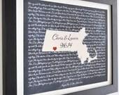 Framed Song Lyrics Or Print, Wedding Song Lyrics First Dance Map Wall Art Personalized Wedding Gift For Newlyweds Husband Wife Bride Lyrics