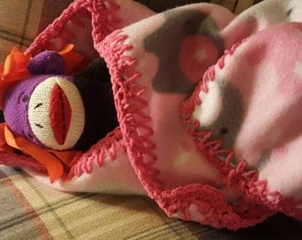 Pink elephant blanket