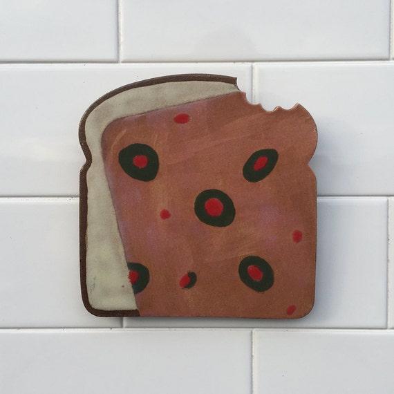 Ceramic Tile Kitchen Wall Decor Functional Art Spoon Rest