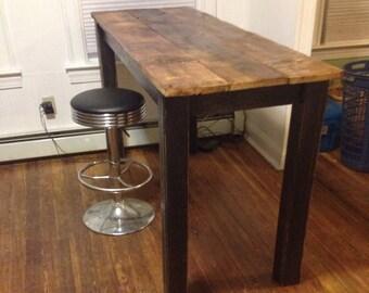Reclaimed barnwood hightop table kitchen table kitchen island