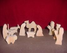 Unfinished Christmas Nativity Set   (Small Size)