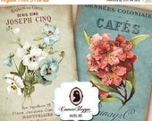75% OFF SALE SHABBY Flowers Digital Collage Sheet Aceo Shabby chic Digital sheet Digital Download