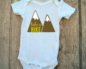 Take a Hike baby onesie Whimsy Onesie Camping Hiking trails Outdoors Sports Lover Forrests funny