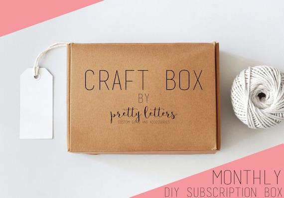 Items similar to craft box craft subscription box for Craft subscription box for adults