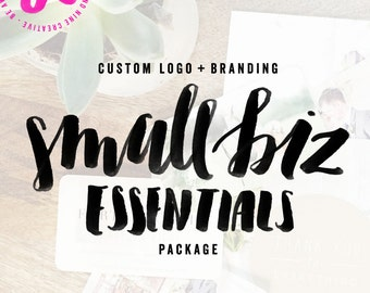 Custom Logo + Branding: Small Biz Essentials / Custom Logo Design (OOAK) & Print Materials