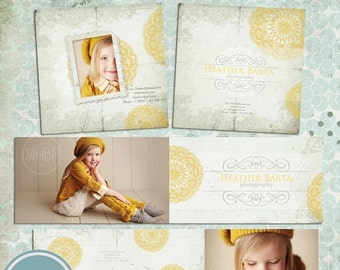 ON SALE 3x3 Accordion Mini Book Templates PSD Files Templates for Photographers