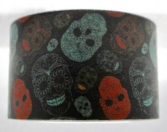 """Exclusive """"Day Of the Dead"""" Dia De Los Muertos"""" Wide Washi Tape in Color 25mm x 10 meters Wide. Artwork by Alisa Foytik"""