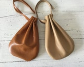 Leather Amulet Bag,  Crystal Pouch, Leather Pouch, Coin Pouch, Drawstring Pouch, Medicine Pouch, Leather Pouch, Jewelry Pouch, Nappa Leather