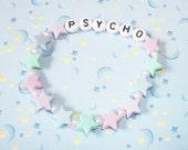Psycho Pastel Stars Fairy Kei Kandi Bracelet