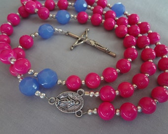 Rosary Beads ~ Glass Pearls and Silver