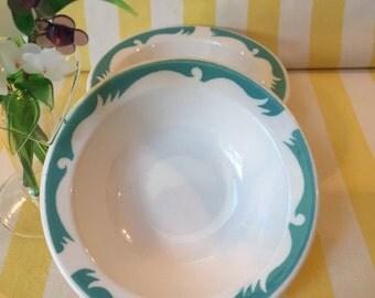 On Sale Homer Laughlin Restaurant Ware Vintage Ceramic Berry Bowls Set Of Two Dessert Bowls