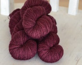 Merino Singles - Fingering Weight - CLARET- Suzy Parker Yarns - Superwash Merino Singles 100g 366meters/400 yards