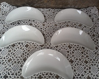 IRONSTONE - SET OF 5, Bone Dishes by J.G. Meakin Hanley of England, French Country, Farmhouse, Plain White