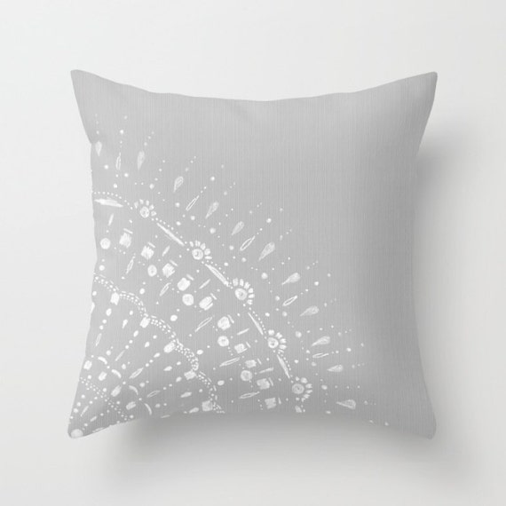 Lace Throw Pillows Covers : Grey Lace Throw Pillow Cover grey pillow cover gray pillow
