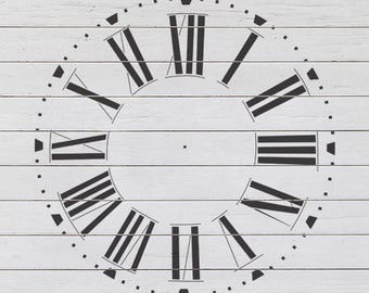 "Large Farmhouse Clock Stencil (23"" Diameter)"