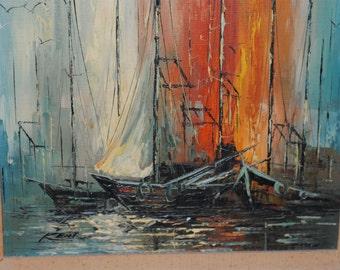 Vintage Nautical Painting