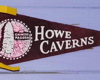Vintage Howe Caverns, New York Pennant