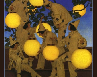 Fridge Magnet The Lantern Bearers, artist Maxfield Parrish, 1908, image