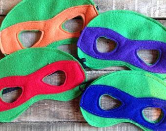 Ninja Turtle Mask Set // Ninja Turtle party // ninja turtle gift // ninja turtle theme // ninja turtle party favors