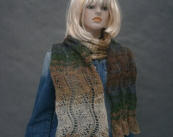 hand made shawl / scarf color of the earth