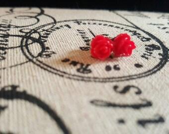 Single Pair mini Rose Studs