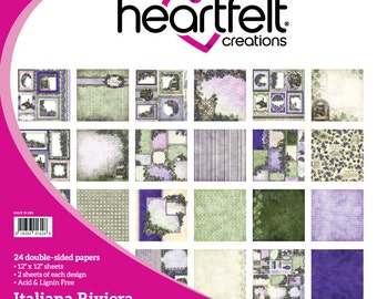 Heartfelt Creations Double Sided 12x12 Paper Pad Italiana Riviera Collection