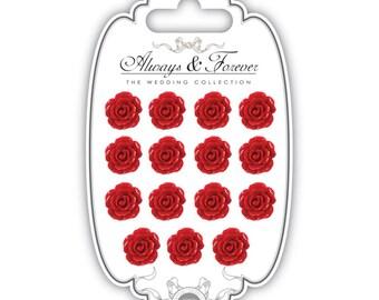 Craft Consortium Resin Flower - Red Rose
