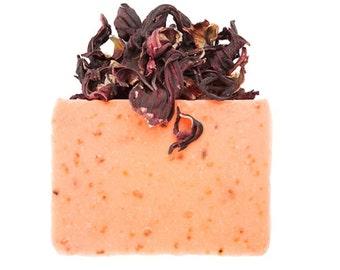 Hibiscus Soap,Homemade Soap, Guest Soaps, Soap Gift, Soap Bar, Vegan Soap Handmade, Cold Process Soap, Organic Soap, Soap Samples, Soap Bar