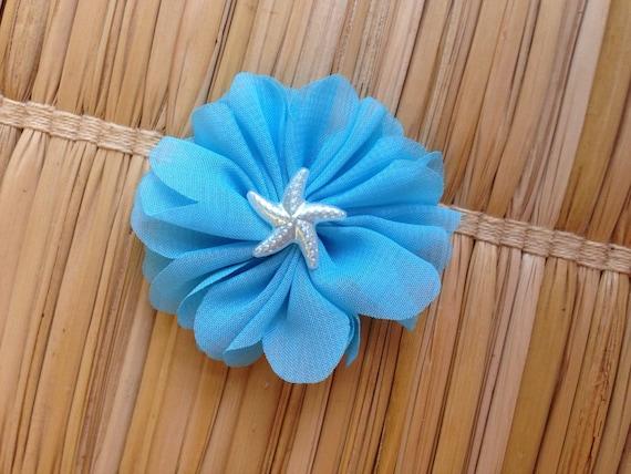 Headband, Under the Sea Headband - Aqua Flower Rhinestone Headband ...
