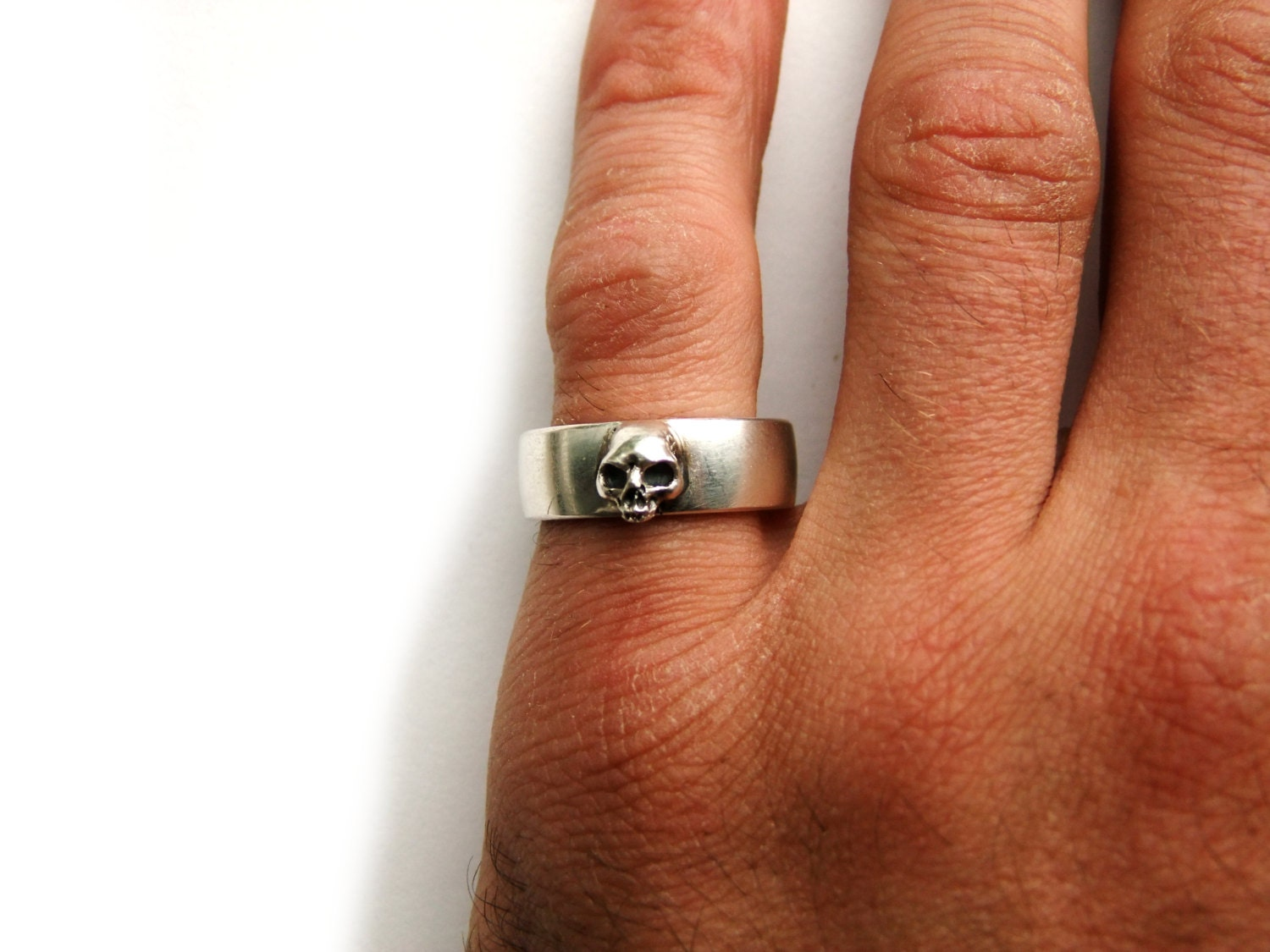 Skull Wedding Ring Grooms Skull Ring Goth Groom Ring Skull Wedding