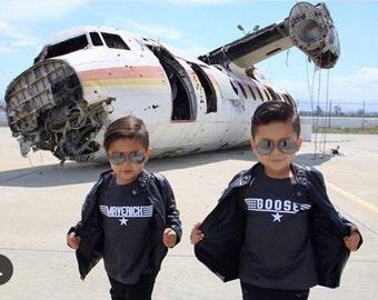 Top gun Goose and Maverick boys shirts
