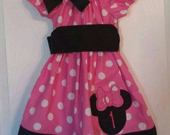 Minnie Mouse 1st Birthday dress Minnie Birthday