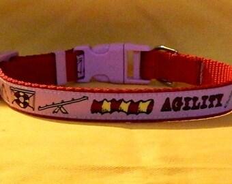 Medium Pink Agility collar