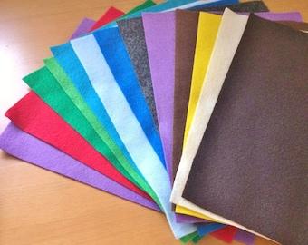 A set of 13 colors Felt Cloth