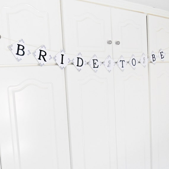 SALE, FREE SHIPPING, Bride To Be banner, Bridal shower banner, Wedding banner, Engagement party decor, Wedding garland, Bachelorette party