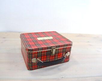 Lunch Box, Storage Box Red, Display Case, Plaid