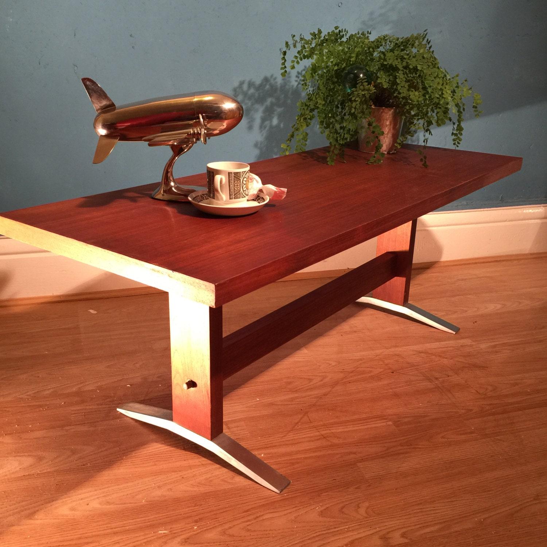 Coffee Table Minimalist Retro: Mid Century Vintage Retro Industrial Minimalist Hardwood