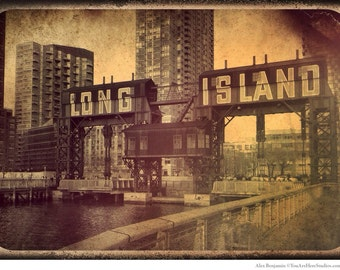 Gantries, Long Island City, Queens, LIC, Gantry Plaza, Photography, Sepia, FREE SHIPPING!