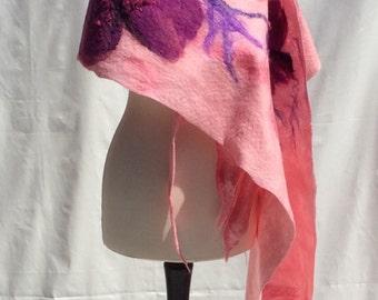 Felted Merino wool scarf.