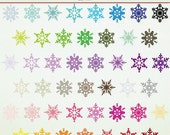 SALE Clip Art - 46 Snowflakes - Winter - Christmas -  ClipArt Scrapbooking Personal Commercial G1162