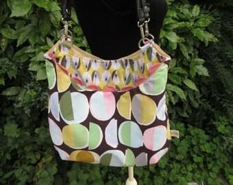 Pastel Parasols print Messenger Bag 447
