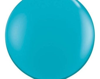 Jumbo Round Balloons 36 inch Tropical Blue Latex Giant Balloon for Party Decoration