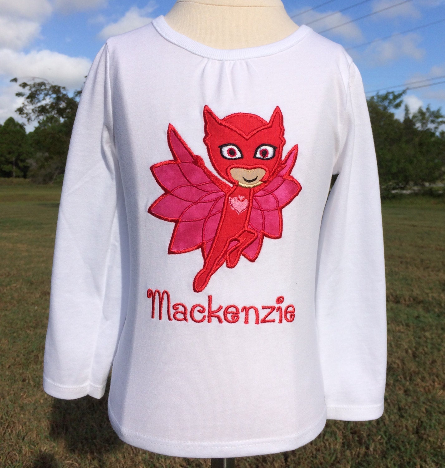 Design your own t shirt mumbai - Pj Masks Owlette Personalized Embroidered Bodysuit Or T Shirt