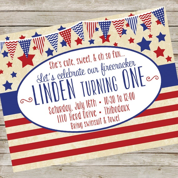 patriotic party invitation piy file red white blue party